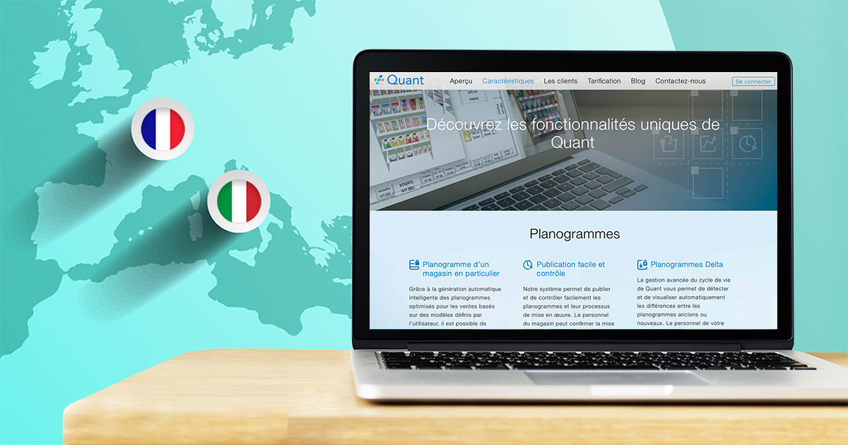 We launched Quant Retail website in French and Italian language image